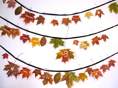 The Artful Parent thankful thanksgiving leaf garland