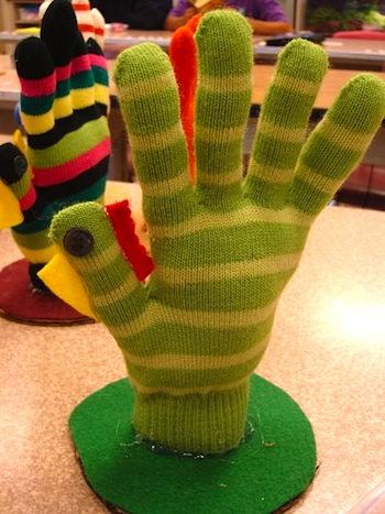 Cathie Filian knit glove turkey