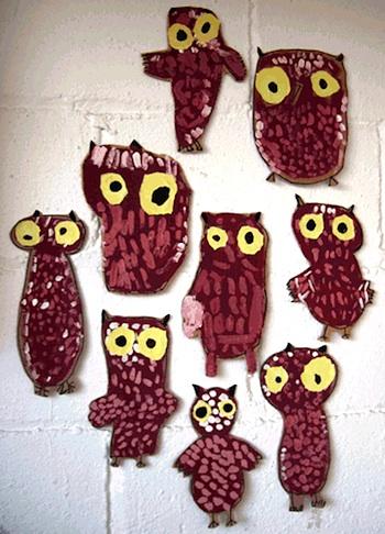 Fem Manuals owl with glowing eyes