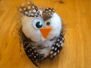 The Crafty Classroom pinecone owl