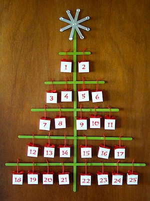 Craftynest popsicle stick advent