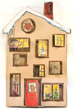 Craft Leftovers printable 12 day advent house