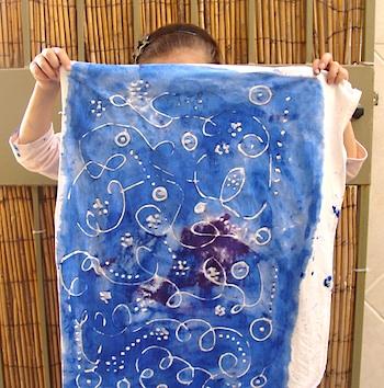 Creative Jewish Mom hanukah batik banner