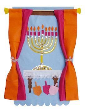 Creative Jewish Mom felt hanukah banner