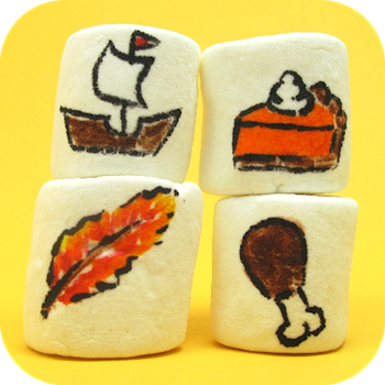 The Decorated Cookie thanksgiving marshmallow art