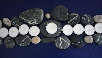 The Magnifying Glass rock menorah