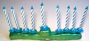 Activity Village birthday candle menorah