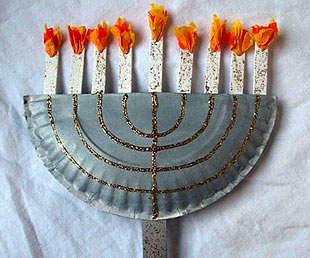 Kaboose paper plate menorah
