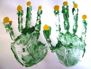 Activity Village handprint menorah