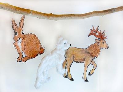 CC10 animals in winter ornaments