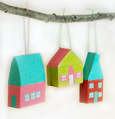 Ornament Advent Day 3:Glitter House Ornaments! - Things to Make ...