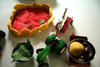 Pepper Paints apple pie playdough