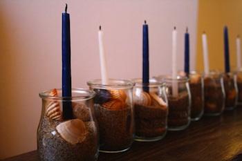 The Magnifying Glass sand menorah