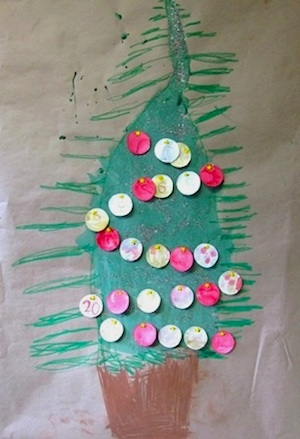 The Artful Parent advent calendar tree
