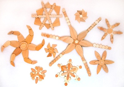 CraftyCrow wood snowflakes all