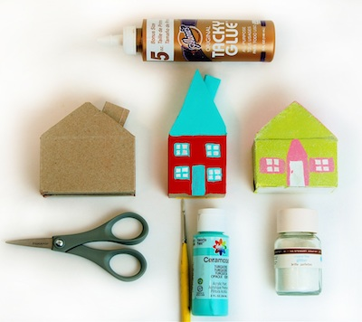 CC10 home sweet home glitter house ornament supplies