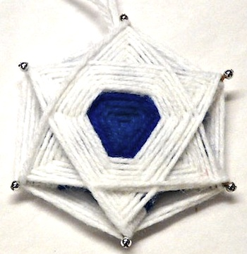 Gingerbread Snowflakes woven star of david