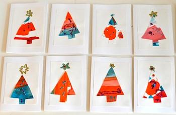 Lilla A christmas tree cards