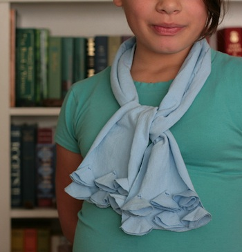 A Foothill Home Companion avery's ruffle scarf