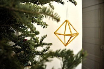 Elsie Marley geometric straw ornament