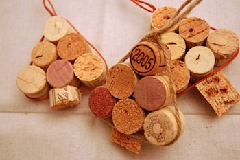 Between The Lines cork ornaments
