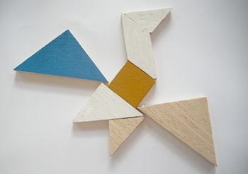Elsie Marley wooden tanagram tutorial