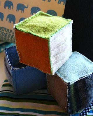 My Poppet felted sweater blocks