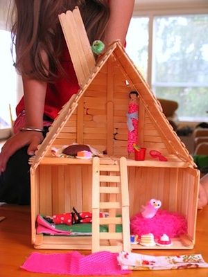One Crafty Mumma popsicle stick house
