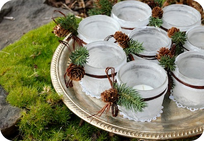 Garden Mama frosted votives