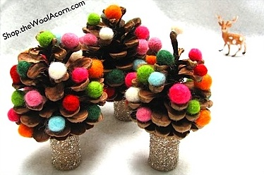 The Wool Acorn pinecone tree