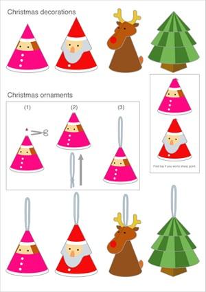 Satohisao printable ornaments