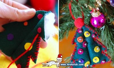 Krokotak felt ornaments