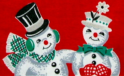 Crafty Crow snowman couple