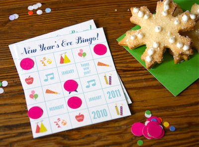 Hip Hip Hooray! new year's eve bingo