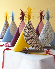 Martha Stewart party hats