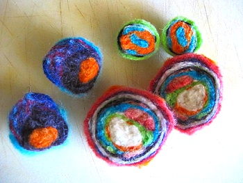 Eclectic Chica felt geodes