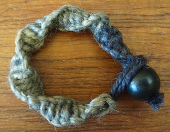 Elizabeth Abernathy macrame bracelet