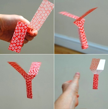 Mini-eco paper toy whirlybird
