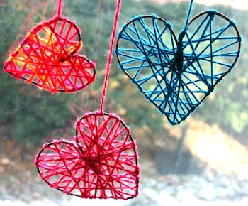 Family Chic yarn hearts