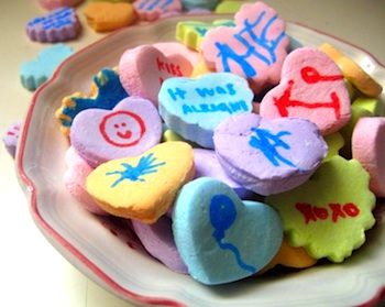 Make Monthly diy conversation hearts