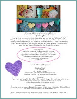 Sweet Heart Crochet Pattern cover button