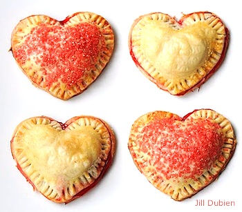 Meet the Dubiens heart shaped cherry pies