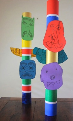 Bookhou Crafts child-sized totem pole