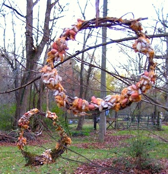 Barefoot Childhood wreaths for the birds