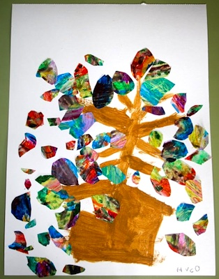 Recycling At School wax tree pictures