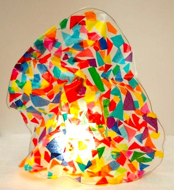 Frugal Family Fun stained glass sculpture