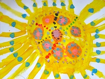 The Artful Parent commissioned sun artwork