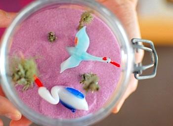 Giddy Giddy pink sand diorama