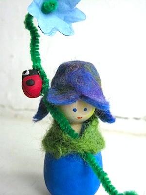 Time To Craft bluebell flower children