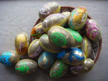 Badut decoupage eggs